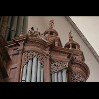 Tangermünde, St. Stephan, Schnitzwerk am Rückpositiv