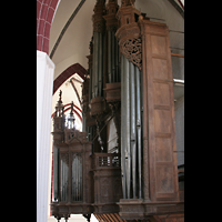 Tangermünde, St. Stephan, Orgel von der Seitenempore aus