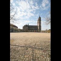 Magdeburg, Dom St. Mauritius und Katharina (Hauptorgel), Domplatz mit Dom