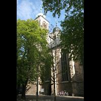 Magdeburg, Kathedrale St. Sebastian (Hauptorgel), Seitenschiff und Türme