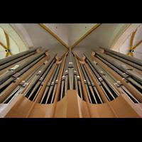 Magdeburg, Kathedrale St. Sebastian (Hauptorgel), Orgelprospekt vom Spieltisch aus