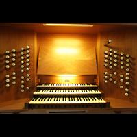 Magdeburg, Kathedrale St. Sebastian (Hauptorgel), Spieltisch der großen Orgel