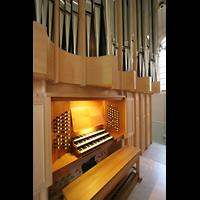 Magdeburg, Kathedrale St. Sebastian (Hauptorgel), Spieltisch und Orgel