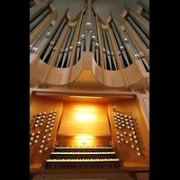 Magdeburg, Kathedrale St. Sebastian (Hauptorgel), Spieltisch mit Orgel