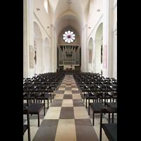 Braunschweig, Dom St. Blasii (Hauptorgel), Blick ins Innenraum / Hauptschiff in Richtung Orgel