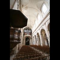 Versailles, Cathédrale Saint-Louis (Hauptorgel), Kanzel und Hauptorgel