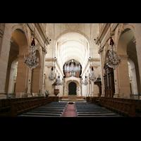 Versailles, Cathédrale Saint-Louis (Hauptorgel), Blick vom Chor zur Hauptorgel