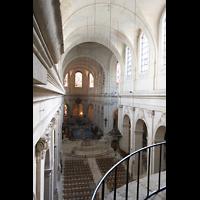 Versailles, Cathédrale Saint-Louis (Hauptorgel), Blick von der Orgelempore in die Kathedrale