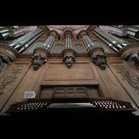 Laon, Cathédrale Notre-Dame, Orgel mit Spieltisch