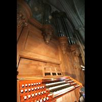Laon, Cathédrale Notre-Dame, Spieltisch und Orgel