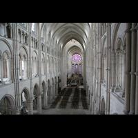 Laon, Cathédrale Notre-Dame, Blick von der Orgelempore in die Kathedrale