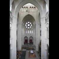Laon, Cathédrale Notre-Dame, Blick von der Seitenempore in die Vierung