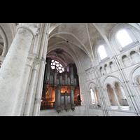 Laon, Cathédrale Notre-Dame, Blick von der Seitenempore in Richtung Orgel