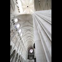 Laon, Cathédrale Notre-Dame, Vierungspfeiler und Hauptschiffgewölbe