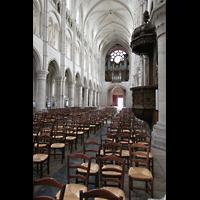 Laon, Cathédrale Notre-Dame, Kanzel unnd Orgel