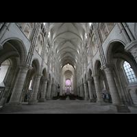 Laon, Cathédrale Notre-Dame, Innenraum / Hauptschiff in Richtung Chor