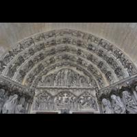Laon, Cathédrale Notre-Dame, Tympanon über dem Hauptportal