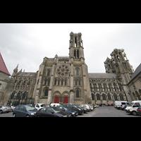 Laon, Cathédrale Notre-Dame, Seitenansicht