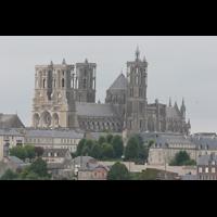 Laon, Cathédrale Notre-Dame, Ansicht von der Stadt aus