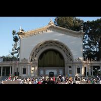 San Diego (CA), Balboa Park, Spreckels Organ Pavilion (Freiluftorgel), Orgel im Pavillon