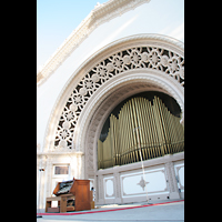 San Diego (CA), Balboa Park, Spreckels Organ Pavilion (Freiluftorgel), Spieltisch und Orgel