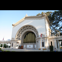 San Diego (CA), Balboa Park, Spreckels Organ Pavilion (Freiluftorgel), Orgel und Spieltisch