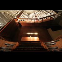 Berlin (Tiergarten), Philharmonie, Perspektive am Spieltisch noch ohne die neuen Chamaden