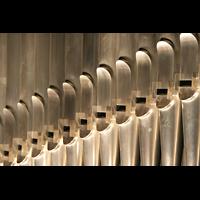 Berlin (Tiergarten), Philharmonie, Prospektpfeifen im Positiv