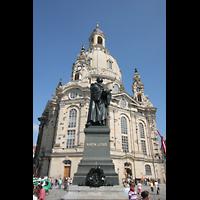Dresden, Frauenkirche, Frauenkirche mit Luther-Denkmal