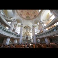 Dresden, Frauenkirche, Innenraum mit Orgel