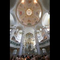 Dresden, Frauenkirche, Blick zur Kuppel in Richtung Orgel