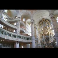 Dresden, Frauenkirche, Orgel und Seitenemporen