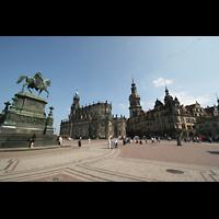 Dresden, Kathedrale Ss. Trinitatis (ehem. Hofkirche), Theaterplatz mit Hofkirche (Kathedrale)
