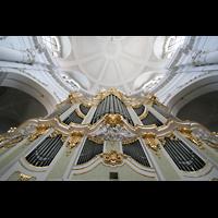Dresden, Kathedrale Ss. Trinitatis (ehem. Hofkirche), Blick vom Spieltisch nach oben
