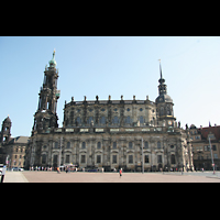 Dresden, Kathedrale Ss. Trinitatis (ehem. Hofkirche), Seitenansicht