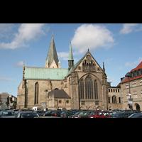 Paderborn, Dom St. Maria, St. Liborius und St. Kilian, Außenansicht vom Chor aus