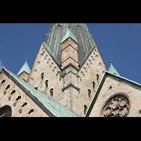 Paderborn, Dom St. Maria, St. Liborius und St. Kilian, Turm und Giebel