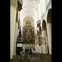 Stralsund, St. Marien, Innenraum / Hauptschiff in Richtung Orgel