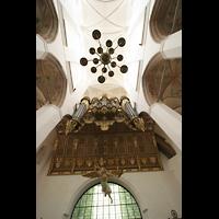 Stralsund, St. Marien, Orgel und Blick ins Gewölbe