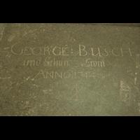 Stralsund, St. Marien, Grab- oder Gedenkstein von George (ohne 'W' :-) Busch