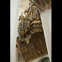 Stralsund, St. Marien, Orgelempore von der Seite