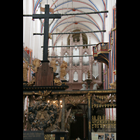Stralsund, St. Nikolai, Blick vom Chorraum auf die große Orgel