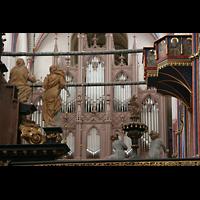 Stralsund, St. Nikolai, Große Orgel vom Altarraum aus