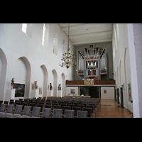 Bremen, Kulturkirche St. Stephani, Innenraum / Hauptschiff in Richtung Orgel