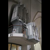 Twistringen, St. Anna, Orgelempore von der Seite gesehen
