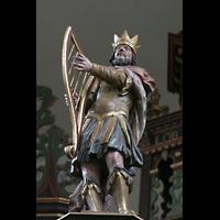Bremen, St. Ansgarii (Chororgel), König David mit Harfe