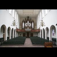 Bremen, St. Ansgarii (Chororgel), Innenraum / Hauptschiff in Richtung Orgel