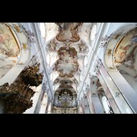 Amorbach, Abteikirche (Fürstliche Kirche), Kanzel und Orgel