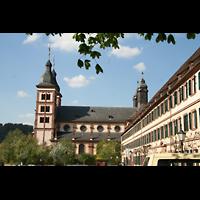 Amorbach, Abteikirche (Fürstliche Kirche), Gesamtansicht außen