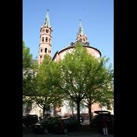 Würzburg, Dom St. Kilian, Außenansicht vom Chor aus